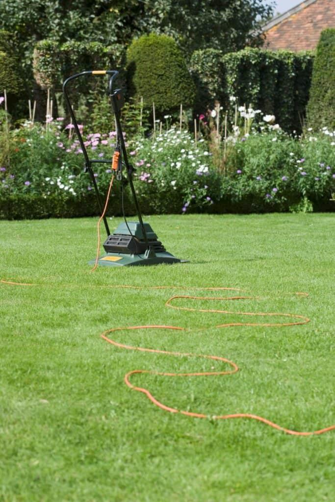 græsslåmaskine med ledning
