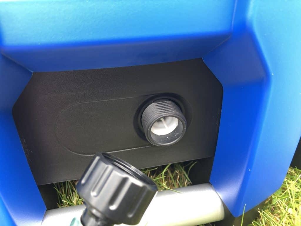 Montering af vandtilførsel