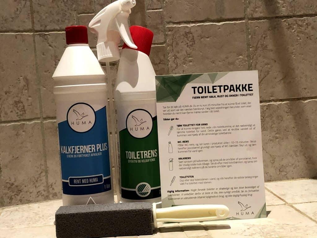 Toiletpakke fra huma til rengøring af toilet