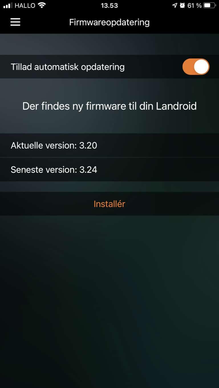 Firmware opdatering
